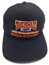 TEXAS MOTOR SPEEDWAY vintage 1997 INAUGURAL SEASON black adjustable cap / hat