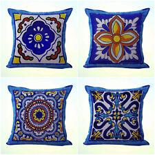 US Seller- 4pcs throw pillow cover cushion covers Mexican Spanish talavera