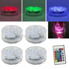 4x Swimming Pool Light Rgb Led Bulb Underwater Color Vase Decor Lights & Remote