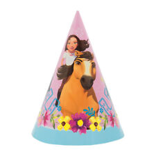 SPIRIT RIDING FREE CONE HATS (8) ~ Birthday Party Supplies Favors Paper Pink