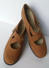 Rockport Womens Size 9W Tan Leather Suede Loafers Shoes Made in Brazil