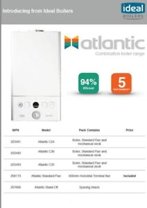 Ideal Atlantic 24kw Boiler Flue And Clock 5 Years Warranty