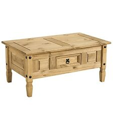 Corona Coffee Table Waxed Solid Pine | Mexican Style