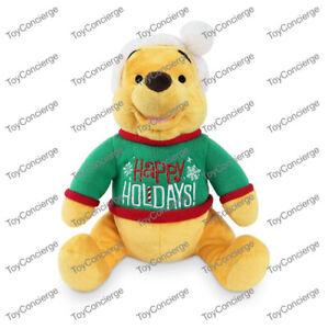 ^ DISNEY Store CHRISTMAS - PLUSH - WINNIE THE POOH - MEDIUM - NWT