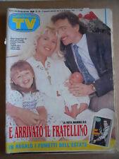 TV SORRISI E CANZONI  n°34 1992 Maria Teresa Ruta - inserto Nick Raider [GS49]
