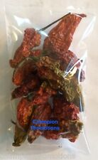 Ghost Pepper Bhut Jolokia Hot Whole Dried Spice 15 Pods USA SELLER Free Shipping
