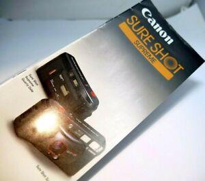 Canon Sure Shot Supreme Cámara Venta Folleto Guía Inglés 1986