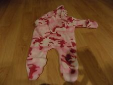 Infant Size 6 Months Bass Pro Shows Pink Camouflage Camo Hooded Pram Snowsuit