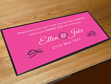 Personalised First dance wedding Song lyrics pink venue bar runner ANY SONG