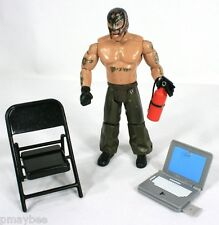 "WWE Rey Mysterio 7"" Figure with Fire Extinguisher, Chair & Laptop ©JAKKS Pacific"