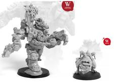 Iron Boss Mega Armor Ghazkull Ork Warboss w/ Hangry Attack Bomb Squig - Artel W