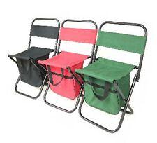 Folding Camping Fishing Chair Stool Travel Backpack Beach-Bag 2 legs pair