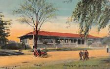 CHICAGO, IL Illinois    GARFIELD PARK~PAVILION    Men & Car     1912 Postcard