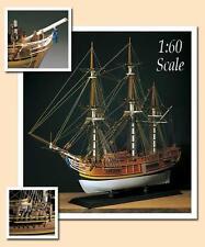 "Amati HMS Bounty 30"" Wooden Tall Ship Model Kit Historic Series Mutiny Bligh"