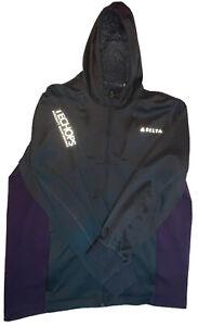 Delta Lands End Black/Purple Full Zip Jacket size XL