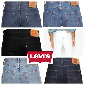 Levis 501 Original Fit Jeans Straight Leg Button Fly 100% Cotton Blue Black