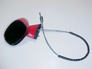 Iso Lele Side Remote Rear View Mirror_Cables_Gasket_Red Paint_VINTAGE_GENUINE