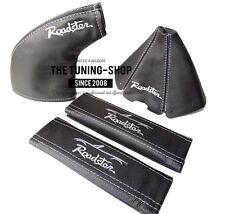 Para Mazda MX-5 89-97 Negro Engranaje Polaina de freno de mano + cubre cinturones de seguridad estilo Roadster