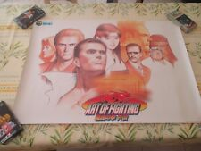 >> ART OF FIGHTING 3 III GAIDEN SNK NEO GEO ARCADE B1 SIZE OFFICIAL POSTER! <<