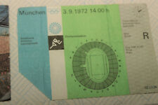 More details for  munich olympics 1972 ticket for 03/09/72 event when  mary peters won + 2 others