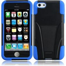 For Apple iphone SE iphone 5 5S iPhone 5C T-Stand Hybrid Case-Black+Blue