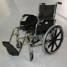NEW 2-in-1 Aluminum Shower Wheelchair Commode Wheelchair Shower Chair on Wheels