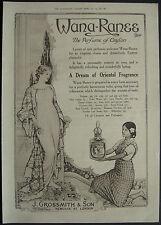 WWI  Wana-Ranee J Grossmith Perfume 1918 1 Page Advert