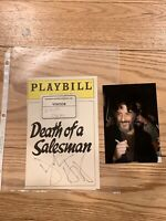 Dustin Hoffman Death Of A Salesman Autographed Signed Playbill Cover 1985