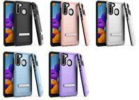 For Samsung Galaxy A21 S215DL A215W A215U1 Lining Hybrid w Stand Case Cover
