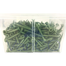 Green Organic Coated Decking Screws 40mm - 75mm Various Quantities Available