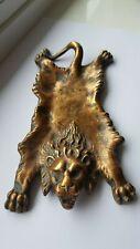 Antique Cold Painted Bronze Lion Rug Pin / Coin Dish,Style Franz Bergmann, c1920
