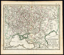 Antique Map-EUROPE-RUSSIA-BLACK SEA-KRIM-Poirson-Tardieu-1810