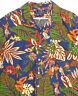 vtg 90s RALPH LAUREN POLO SPORT Blue Hula Girl Hawaiian Camp Shirt 3XL
