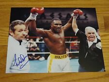 Boxing Hall of Famer LOU DUVA signed 8x10 Photo with Evander Holyfield COA