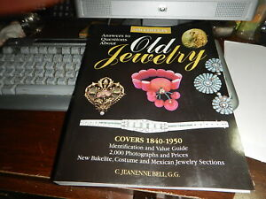 Antique Reference Book Old Jewelry by C Jeanenne Bell