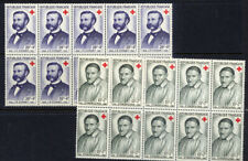 France 1958 Red Cross Pair in Blocks of 10 all UMM/MNH and v.fine