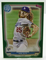 Topps 2020 Gypsy Queen Green Parallel Dustin May Dodgers Rookie Card RC No. 155