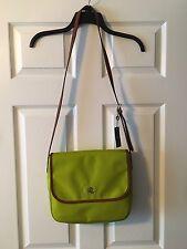 NWT Lauren Ralph Lauren Women's Handbag, Bainbridge, Nylon, Crossbody, Citron
