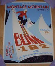 Blink 182 concert gig poster print Scranton 8-25-16 2016 Steve Thomas Show