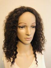 100% Human Hair Wigs Kinky Curly Chocolate brown Adjustable Cap Free Shipping