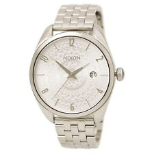 Nixon Women's Bullet 38mm Stainless Stamped Dial Stainless Steel Silver Watch