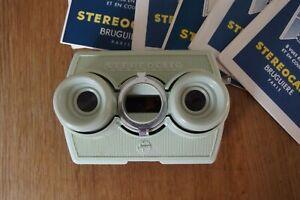 stereoscope stereoclic super Bruguiere + 6 cartes
