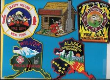 LOT OF 5 FIRE DEPT PATCHES PUNX PA AK DOF MOONSHINE TX SLEEPY HOLLOW NY WILLOW