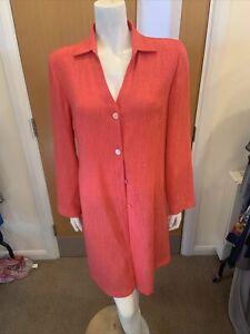 Luis Civit Pink Long Sleeve Long Blouse Top - UK Ladies Size 12