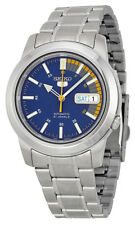 Seiko 5 SNKK27 Men's Stainless Steel Blue Speed Dial Day Date Automatic Watch