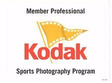 ADVERTISING  MEMBER PROFESSIONAL KODAK SPORTS PHOTOGRAPHY PROGRAM STICKER  8X10