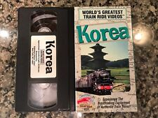 Worlds Greatest Train Ride Videos Korea VHS! PBS Discovery Channel