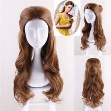 Beauty and the Beast Princess Belle Wig Long Wavy Cosplay Wig + Wig Cap