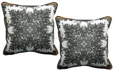 Pack of 2 Abstract Floral Pattern Printed Design Cushion Covers