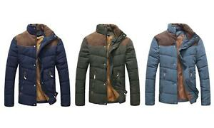Mens Padded Contrast Bubble Coat Quilted Puffer Jacket Warm Winter Fashion Size